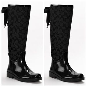 Coach Lace Up Rain Boots